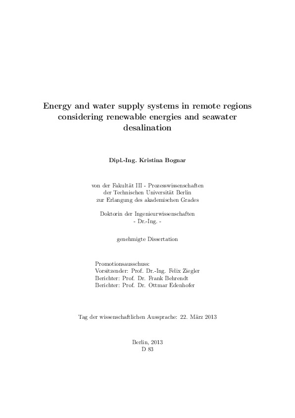 Phd thesis on water desalination